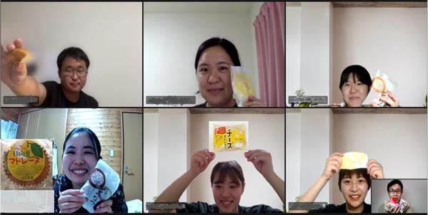 オンライン茶話会の様子